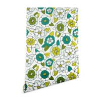 Deny Designs Heather Dutton Tropical Bloom 2-Foot x 8-Foot Peel and Stick Wallpaper in Green