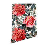 Deny Designs Marta Barragan Camarasa Big Red Flowers 2-Foot x 10-Foot Peel and Stick Wallpaper