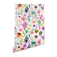 Deny Designs Stephanie Corfee Garden Baby 2-Foot x 10-Foot Wallpaper in White