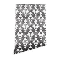 Deny Designs Holli Zollinger Stacked 2-Inch x 10-Inch Peel and Stick Wallpaper in Grey