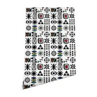 Deny Designs Andi Bird Flash Forward 2-Foot x 8-Foot Peel and Stick Wallpaper in White