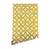 Deny Designs Heather Dutton Starburst 2-Foot x 8-Foot Peel and Stick Wallpaper in Yellow