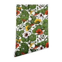Deny Designs Marta Barragan Camarasa Flowering Garden 2-Inch x 8-Inch Peel and Stick Wallpaper
