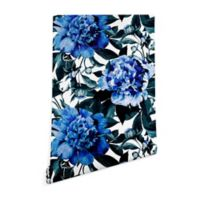 Deny Designs Marta Barragan Camarasa Indigo Floral 2-Foot x 8-Foot Wallpaper in Blue