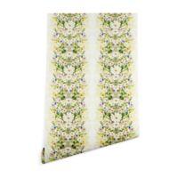 Deny Designs Iveta Abolina Blondelle 2-Foot x 8-Foot Wallpaper in White