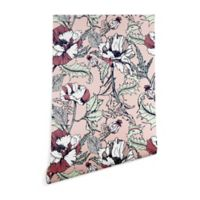 Deny Designs Marta Barragan Camarasa Flowering Poppy 2-Foot x 8-Foot Wallpaper in Pink