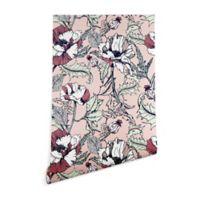 Deny Designs Marta Barragan Camarasa Flowering Poppy 2-Foot x 10-Foot Wallpaper in Pink