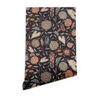 Deny Designs Holli Zollinger Night Blossom 2-Foot x 10-Foot Wallpaper in Black