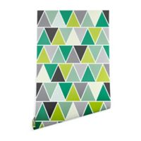 Deny Designs Heather Dutton Emerald Triangulum 2-Foot x 8-Foot Wallpaper in Green