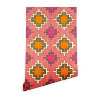 Deny Designs Sharon Turner Tangerine Kilim 2-Foot x 4-Foot Peel and Stick Wallpaper