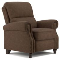 ProLounger® Push Back Faux Leather Recliner Chair in Brown