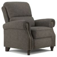 ProLounger® Push Back Faux Leather Recliner Chair in Grey