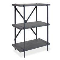 Kate and Laurel Walsh 3-Tier Bookcase in Grey