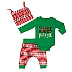 Baby Starters® Size 3M 3-Piece Silent Night Bodysuit, Pant, and Hat Set