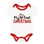 "Baby Starters® Size 12M ""My First Christmas"" Bodysuit in White"