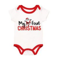 "Baby Starters® Size 3M ""My First Christmas"" Bodysuit in White"