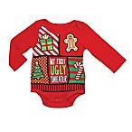 "Baby Starters® Size 3M ""Ugly Sweater"" Bodysuit in Red"