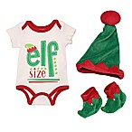 "Baby Starters® Size 3M 3-Piece ""Elf Size"" Bodysuit, Hat, and Booties Set"