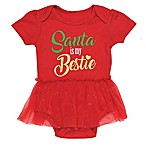 Baby Starters® Newborn Santa Bestie Bodysuit in Red
