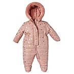 Size 3-6M Sparkle Hearts Hooded Pram in Pink
