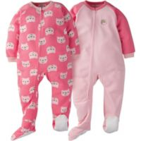 Gerber® Size 4T 2-Pack Pink Bear Sleep & Play Footies