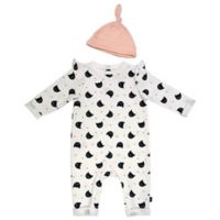 Mini Heroes™ Newborn 2-Piece Cats Coverall and Cap Set in White