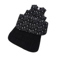 Gunapod® Small Adjustable Wearable Blanket with WONDERZiP® in Black/White XO