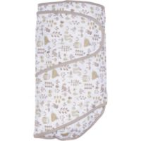 Miracle Blanket® Foxes Friends Swaddle in Grey