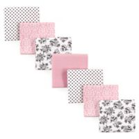 Hudson Baby® 7-Pack Toile Flannel Receiving Blankets in Pink