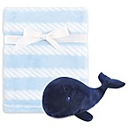 Hudson Baby® 2-Piece Whale Plush Blanket and Toy Set in Blue