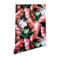 Deny Designs Marta Barragan Camarasa Dark Tropical 2-Foot x 4-Foot Peel and Stick Wallpaper