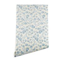 Deny Designs Gabriela Fuente Flo 2-Foot x 8-Foot Wallpaper in Blue
