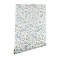 Deny Designs Gabriela Fuente Flo 2-Foot x 4-Foot Wallpaper in Blue