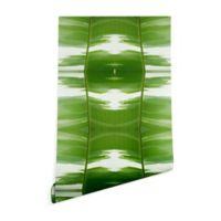 Deny Designs Rosie Brown Garden Stripes 2-Foot x 4-Foot Wallpaper in Green