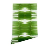 Deny Designs Rosie Brown Garden Stripes 2-Foot x 8-Foot Wallpaper in Green
