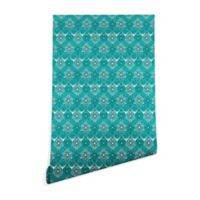 Deny Designs Sharon Turner Saffreya 2-Foot x 10-Foot Peel and Stick Wallpaper in Turquoise