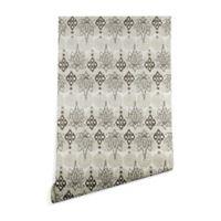 Deny Designs Sharon Turner Lotus Block 2-Foot x 10-Foot Peel and Stick Wallpaper in Grey
