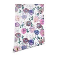 Deny Designs Schatzi Brown Gillian Floral 2-Foot x 8-Foot Peel and Stick Wallpaper in Pink/White