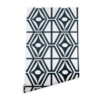 Deny Designs Heather Dutton Metro Steel 2-Foot x 8-Foot Peel and Stick Wallpaper in Blue