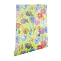 Deny Deisgns Schatzi Brown Gillian Floral Lime 2-Foot x 4-Foot Peel and Stick Wallpaper