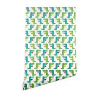 Deny Designs Andi Bird Heartfelt Gators 2-Foot x 8-Foot Peel and Stick Wallpaper
