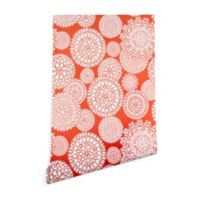 Deny Designs Heather Dutton Delightful Doilie Saffron 2-Foot x 8-Foot Peel and Stick Wallpaper