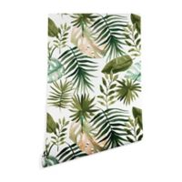 Deny Designs Marta Barragan Camarasa Painting Leaves 2-Foot x 10-Foot Peel and Stick Wallpaper