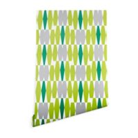Deny Designs Heather Dutton Abacus 2-Foot x 8-Foot Peel and Stick Wallpaper in Emerald