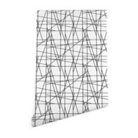 Deny Designs Gabriela Fuente Architecture 2-Foot x 10-Foot Peel and Stick Wallpaper in Black