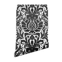 Deny Designs Sharon Turner Aya Damask 2-Foot x 10-Foot Peel and Stick Wallpaper in Grey