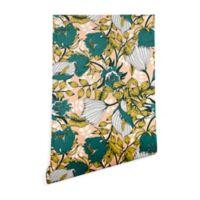 Deny Designs Marta Barragan Camarasa Tropical Bloom 2-Foot x 4-Foot Peel and Stick Wallpaper