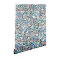 Deny Designs Jacqueline Madonado Nonchalant Coral 2-Foot x 10-Foot Peel and Stick Wallpaper