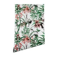 Deny Designs Marta Barragan Camarasa Asian Birds 2-Foot x 4-Foot Peel and Stick Wallpaper
