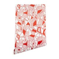 Deny Designs Heather Dutton Fragmented Flame 2-Foot x 8-Foot Peel and Stick Wallpaper